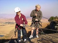 ABSEILING ACTIVITIES FOR GROUP CAMPS IN SOUTH AFRICA