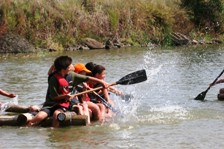 RAFT BUILDING ACTIVITIES FOR GROUP CAMPS SOUTH AFRICA