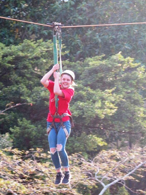 Zipline girl-Group-Camp-Venue-Pennington-KZN-South Coast-South Africa